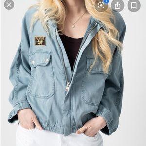New Zadig & Voltaire denim jacket sz medium